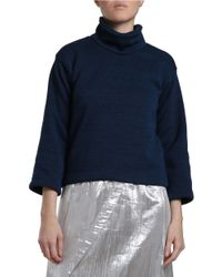 Carolina K - Blue Today Three-quarter Sleeve Turtleneck Sweater - Lyst