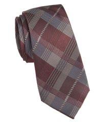 Vince Camuto | Purple Milan Plaid Silk Tie for Men | Lyst