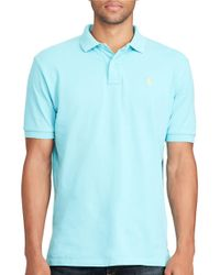 Polo Ralph Lauren | Blue Slim-fit Weathered Mesh Polo for Men | Lyst