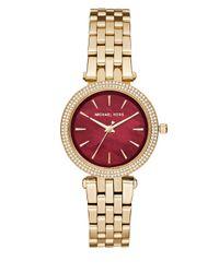 Michael Kors | Metallic Mini Darci Mk3583 Goldtone Stainless Steel Bracelet Watch | Lyst