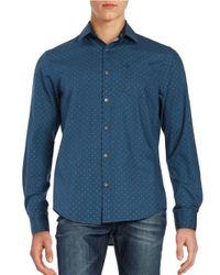 Original Penguin | Blue Dotted Cotton Sportshirt for Men | Lyst