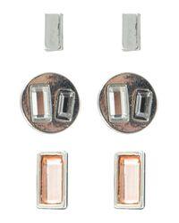 Kensie | Metallic Three-piece Geometric Stud Earrings Set | Lyst
