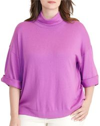 Lauren by Ralph Lauren | Purple Plus Dalzo Jersey Short-sleeve Sweater | Lyst