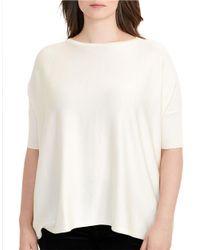 Lauren by Ralph Lauren   White Plus Plus Kartra Foil Short-sleeve Sweater   Lyst