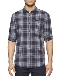 Calvin Klein Jeans | Blue Men's Vintage Violet Plaid Shirt for Men | Lyst