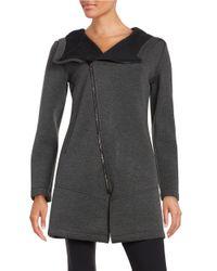 Betsey Johnson | Black Asymmetrical Scuba Jacket | Lyst