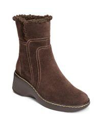 Aerosoles - Brown Side Kick Fleece Trim Suede Boots - Lyst