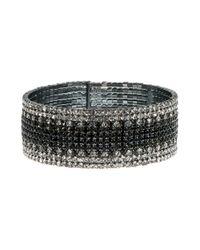 Anne Klein - Black Ombre Cuff Bracelet - Lyst