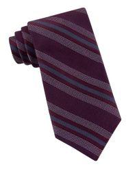 Michael Kors   Purple Striped Silk Tie for Men   Lyst