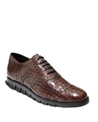 Cole Haan | Brown Zerogrand Wingtip Leather Oxfords for Men | Lyst