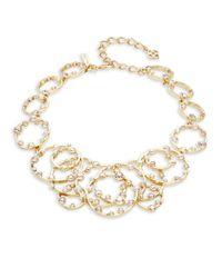 Oscar de la Renta | White Circular Crystal Necklace | Lyst