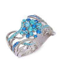 Oscar de la Renta | Blue Sea Swirl Hinge Bracelet | Lyst
