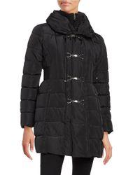 Jessica Simpson | Black Toggle Puffer Coat | Lyst