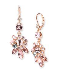 Marchesa | Multicolor Floral Drop Earrings | Lyst
