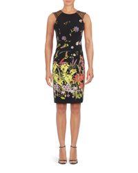 Adrianna Papell - Black Plus Printed Sheath Dress - Lyst