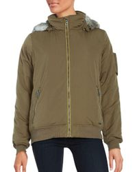 Bench - Multicolor Faux Fur-accented Zip-up Jacket - Lyst