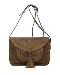 Patricia Nash | Brown Beaumont Suede Crossbody Bag | Lyst