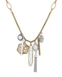 Lucky Brand | Metallic Pebble Multi-charm Necklace | Lyst
