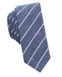 Original Penguin | Blue Striped Cotton Tie for Men | Lyst