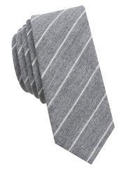 Original Penguin | Gray Striped Cotton Tie for Men | Lyst