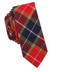 Original Penguin   Red Plaid Cotton Tie for Men   Lyst