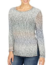 Lucky Brand | Gray Ombre Patterned Long Sleeve Pullover | Lyst