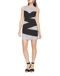 BCBGMAXAZRIA | Blue Mathilde Striped Lace Dress | Lyst