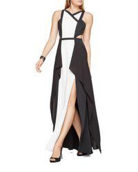 BCBGMAXAZRIA   Black Color-block Gown   Lyst