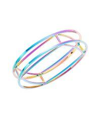Trina Turk | Purple Geometric Bangle Bracelet | Lyst