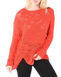 Kensie | Textured Open Knit Sweater | Lyst