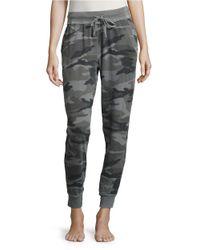 Splendid | Gray Camouflage Jogger Pants | Lyst