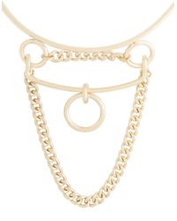 BCBGMAXAZRIA | Metallic Loop Chain Collar Necklace | Lyst