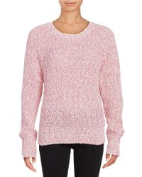 Free People   Pink Electric City Sweater   Lyst