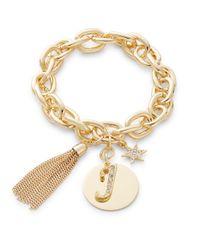 R.j. Graziano | Metallic J Initial Chain-link Charm Bracelet | Lyst