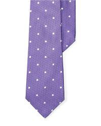 Lauren by Ralph Lauren | Purple Polka Dotted Silk Tie for Men | Lyst