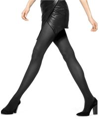 Hue | Black Opaque Tights With Control Top | Lyst