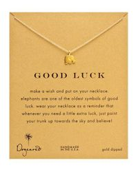 Dogeared | Metallic Gold Elephant Charm Necklace | Lyst