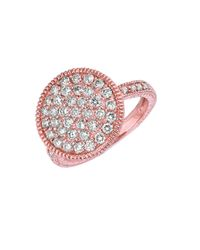 Morris & David | Pink Diamond Ring In 14 Kt. Rose Gold | Lyst