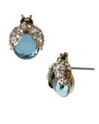 Betsey Johnson - Blue Bug Stud Earrings - Lyst