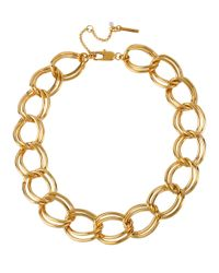 Kenneth Cole | Metallic Gold-plated Large Link Necklace | Lyst