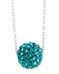 Lord & Taylor | Metallic Sterling Silver Floating Crystal Ball Pendant Necklace | Lyst