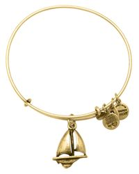 ALEX AND ANI | Metallic Sailboat Charm Bangle Bracelet | Lyst