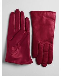 Lord & Taylor - Red Cashmere-lined Leather Gloves - Lyst