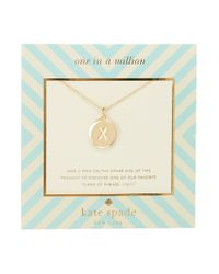 kate spade new york | Metallic One In A Million Letter X Pendant Necklace | Lyst