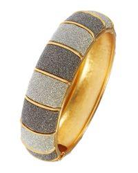ABS By Allen Schwartz | Metallic Glitter Bangle Bracelet | Lyst