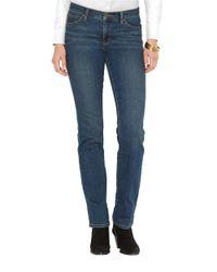 Lauren by Ralph Lauren | Blue Super Stretch Slimming Classic Straight Jeans | Lyst
