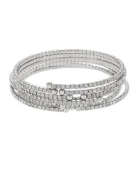 ABS By Allen Schwartz | Metallic Crystal Accented Bangle Set | Lyst