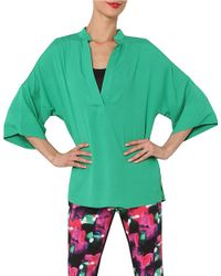 Isaac Mizrahi New York | Green Kimono-sleeve Top | Lyst