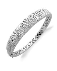 Lord & Taylor - Metallic Diamond And Sterling Silver Bracelet - Lyst