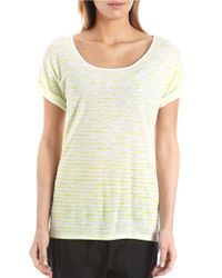 424 Fifth | Green Striped Tee | Lyst